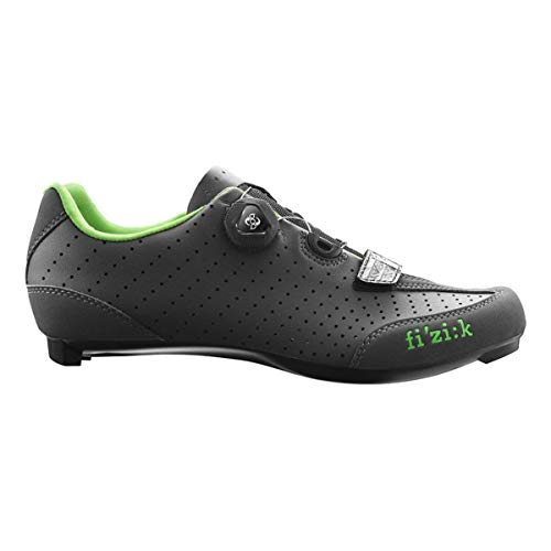 Fizik R3B Uomo Boa Carbon Cycling Shoe - Men's Anthracite Green Fluo, 41.0