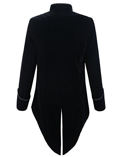 DarcChic Mens Steampunk Tailcoat Jacket Velvet Gothic VTG Victorian 4