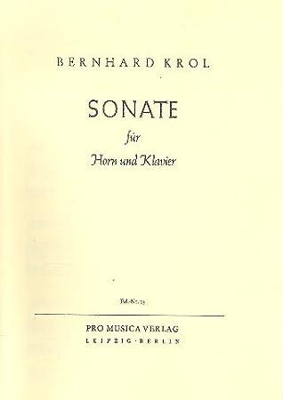 : florecitas para cuerno en F y Piano: Bernhard Krol: Amazon.es: Instrumentos musicales