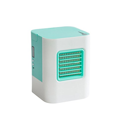 PureSo Mini Portable Air Conditioner Fan Air Cooler, Apply to Office, Home (green)