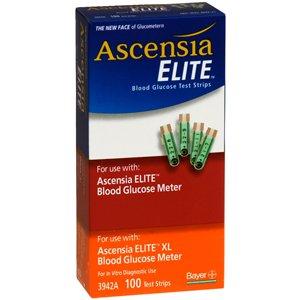 Ascensia bayer elite elite glucometer strip test