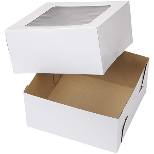 Wilton 12-Inch Cake Boxes with Windows for 10-Inch Cakes, 6-Count
