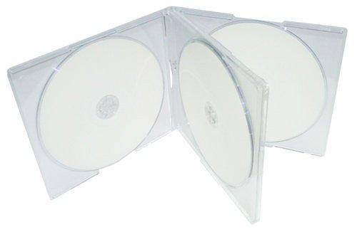 Mediaxpo Brand 400 STANDARD Clear Quad 4 Disc CD Jewel Case