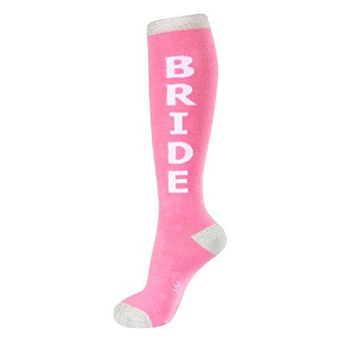 Bride Wedding Pink Womens Knee High Socks ()