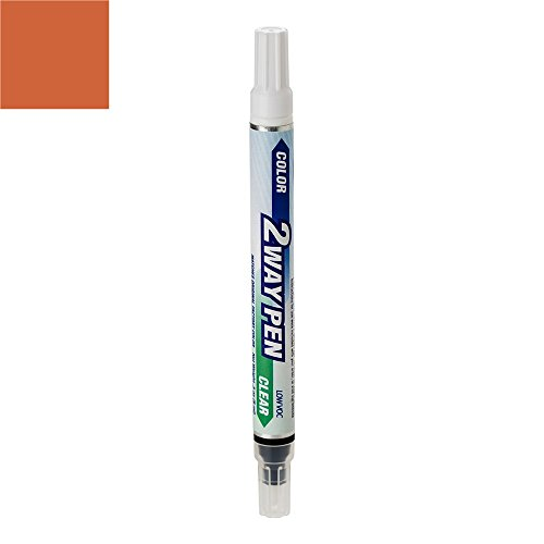 - ExpressPaint 2WayPen Lincoln Mark Automotive Touch-up Paint - Burnt Orange Poly Y (1969) - Color + Clearcoat Only