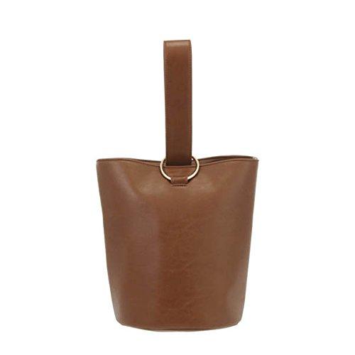 Amazon | UNGRID アングリッド ワンショルダーバケットBAG バッグ 111721936701/2017春夏 BROWN F | ショルダーバッグ