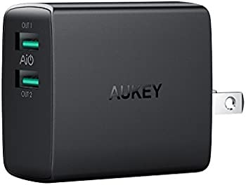 Aukey Ultra Compact Dual-Port USB 4.8A Foldable Wall Charger