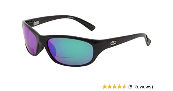 New ONOS Grand Lagoon Amber Mirror 2.50 power Polarized Black frame Sunglasses