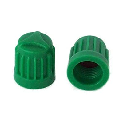NVC SKU 704 -Economy Pak 1,000 - Green Plastic Nitrogen 'Valve Caps with Silicone Inner Seal: Automotive