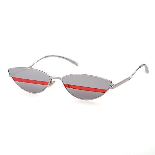 Hombres Plata Sunglasses lente Cat Plata Eye Adewu 2018 marco Style Mujeres Street Eyewear 1POf8RW