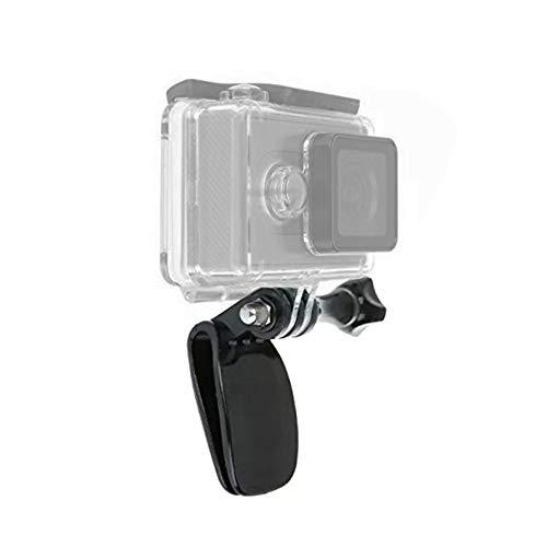 Hat Mount Baseball Cap Quick Release Clip Clamp Mounts Compatible with GoPro Hero 7/6/5 Black, Hero 4, Hero 3, Hero 4/5 Session, Fusion, Xiaomi YI, SJCAM, DJI OSMO Action Cameras ()