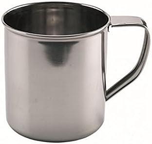 tazza per caff/è e t/è in escursione quanjucheer 8 cm tazza da 8/cm Silver Acciaio INOX in campeggio tazza in acciaio inox perfetta da usare allaperto