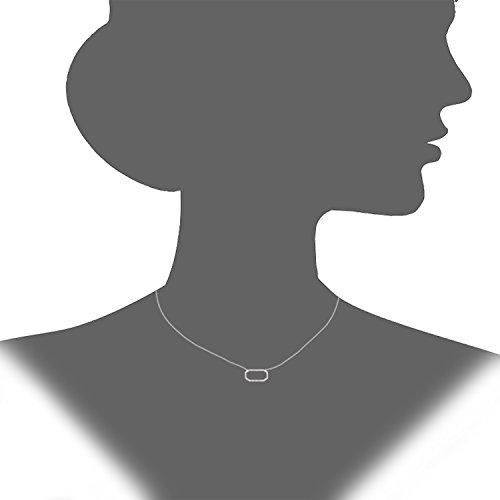 Naava Femme 9 ct (375) Or jaune Rond Diamant Pendentif