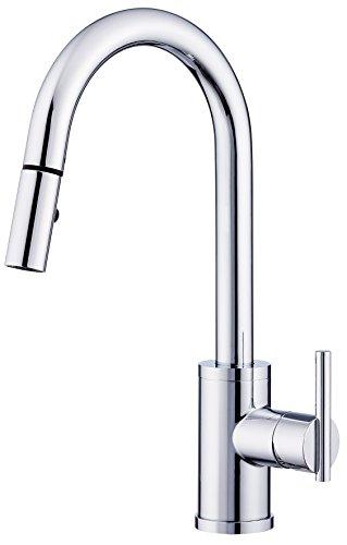 - Danze D453558 Parma Trim Line Single Handle Pull-Down Kitchen Faucet with SnapBack Retraction, Chrome