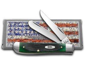 Case Hunter Green Bone Mini Trapper Pocket Knife