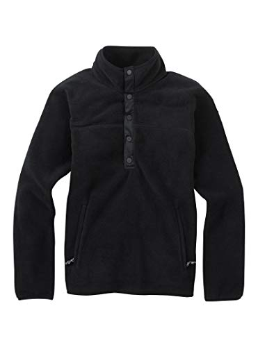 Burton Women's Hearth Fleece Pullover, True Black, Large