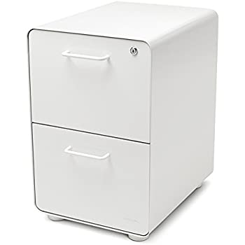 Amazon Com Poppin White Stow 2 Drawer File Cabinet