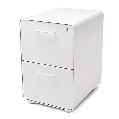 Poppin White Stow 2-Drawer File Cabinet, Metal, Legal/Letter - All Steel File Cabinet