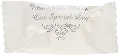 (Wrapped Wedding Buttermints 108 Pc Bag (Thanks for Sharing Our Special Day) by)