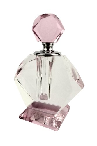Lenox Pink and Clear Glass Dauber Perfume Bottle
