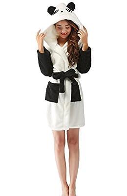 Nicetage Ladies Chrismas Hooded Dressing Gown Robe Warm Cute Cosplay Costume Animal Housecoat With Belt