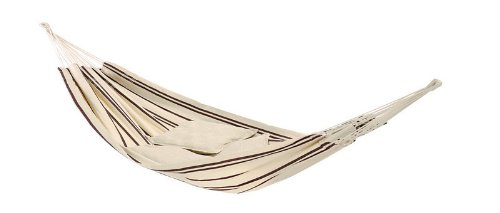 Recycled Cotton Single Brazilian Barbados Hammock by Byer of Maine (Cappuccino)