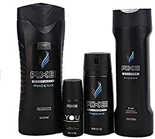 (Axe Phoenix Collection Mens Gift Shower Bath Set Fragrances, Body Wash, Shampoo)