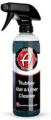 Adam's Rubber Mat & Liner Cleaner 16oz – Protectant & Rubber Floor Mat Cleaning Solution for Car Detailing | Deep Cleans & Restores Mats, Truck Bed Cargo Liners, Trunk Mat Accessories & More