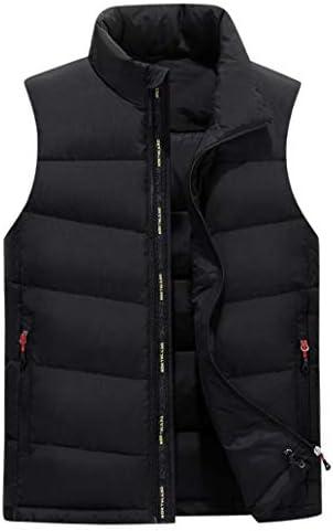 メンズダウンベストフォール/冬リムーバブルキャップベストダブル厚手フェザーショルダージャケット (Color : Black, Size : M)
