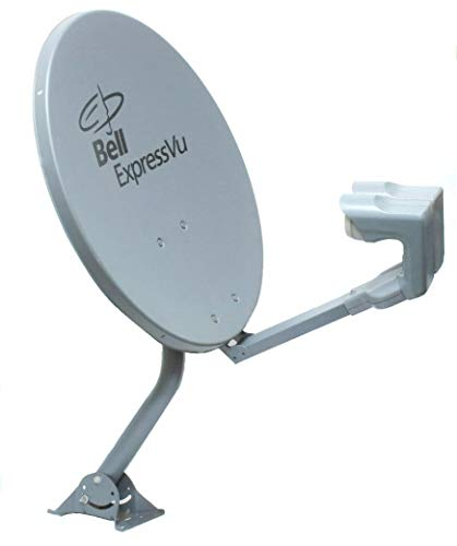 18'' Bell ExpressVu and Dish Satellite Antenna for high Definition. Double LNB. LNB with 2 coaxial outputs (82 and 91 Positions)