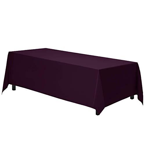 Gee Di Moda Polyester Rectangle Tablecloth - Eggplant 70