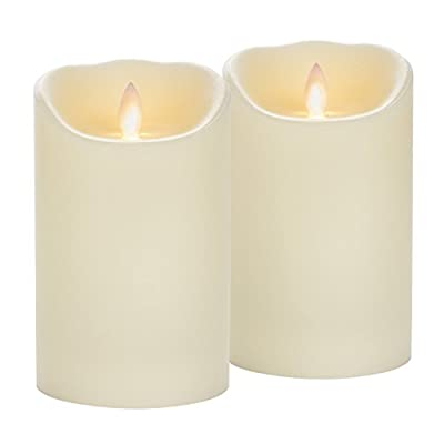 Candle Impressions Mirage Flameless Candles w/ Timer Feature - Set of 2 - Duracell Batteries Included