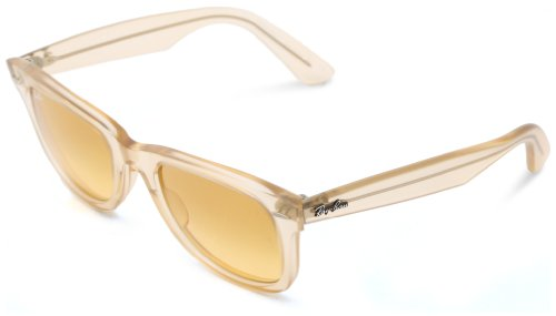 Ray-Ban RB2140 Wayfarer Sunglasses, DEMI GLOSS BEIGE, 50 ()