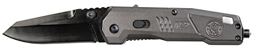 Smith & Wesson M&P M2.0 7.75in S.S. Dual Action Opening Knife with 3in Clip Point Blade and Aluminum Handle for Outdoor Tactical Survival and Everyday ()