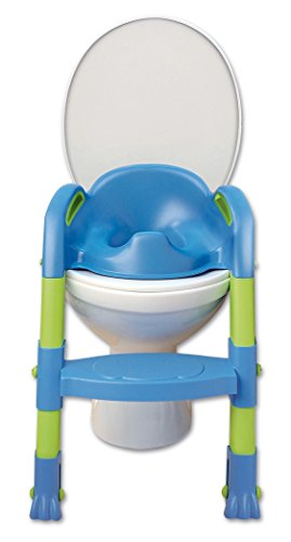 Funny Toilettentrainer Kiddyloo blau/grün