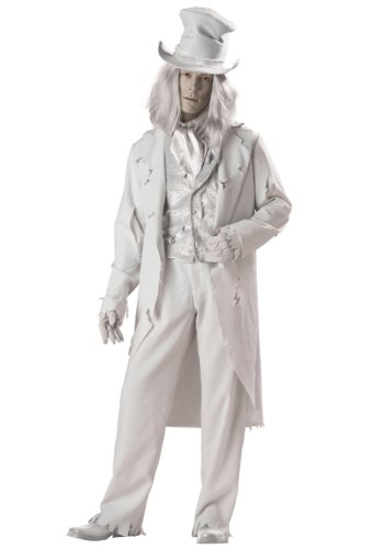 InCharacter Costumes Men's Ghostly Gent Costume, Gray, Large
