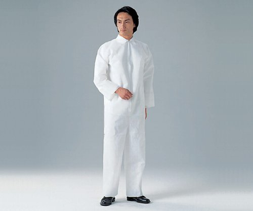 ディスポ保護衣(つなぎ服) M 50枚入 /8-4054-11 B079BYBK8W