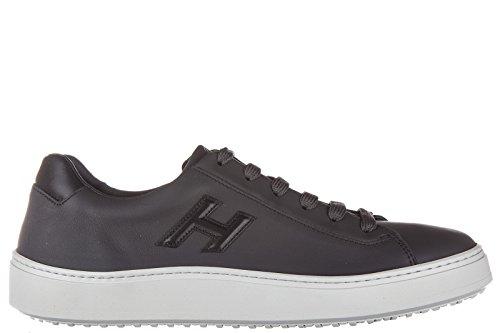 Hogan Scarpe Sneakers Uomo in Pelle Nuove h302 Urban Cupsole Sporty Style Grigio