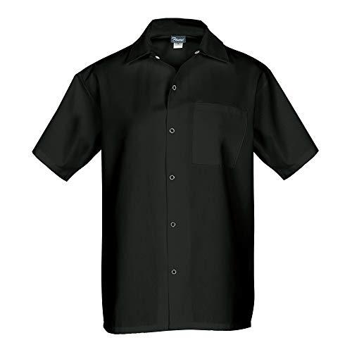 (Fame Short Sleeve Cook Shirt (Large, Black))