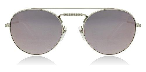 Valentino VA2004B 30195R Shiny Sandblast Silver VA2004B Round Sunglasses Lens - Sunglasses Valentino Mens