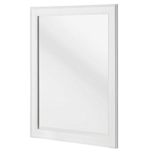 Foremost - Gazette 32 in. L x 24 in. W Framed Wall Mirror in White - White