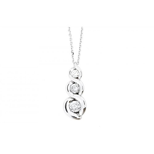 Collier World Diamond Group Calla gim34tr01 - 0,25 or blanc diamant