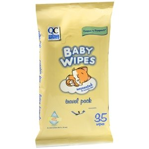 PACK OF 3 EACH QC BABY WIPE RESEAL TRAVEL PK 35EA PT#63551595004