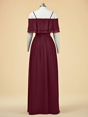 Alicepub Bridal Party Evening Gown Chiffon Ball Bridesmaid A Dress Dress Champagne Long Line ZwSBqrcZ
