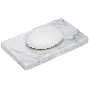 this item white marble bar soap dish holder for the shower and bathroom sink accessories rectangle 6 x 35 inch 15 x 9 cm