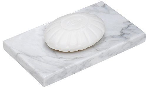 CraftsOfEgypt White Marble Soap Dish - Polished and Shiny Marble Dish Holder Beautifully Crafted Bathroom ()