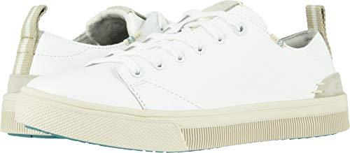 TOMS Women's TRVL LITE Low White Leather 5 B US