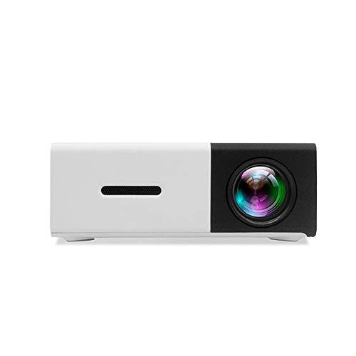 JANRON-Video Mini Multimedia Tragbar Full HD Beamer,Videobeamer unterstützt 1080P Full HD, Verbindung mit mit HDMI/VGA…
