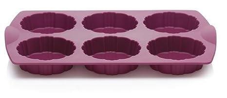 Tupperware - Molde de silicona para horno TupCakes formas, color morado: Amazon.es: Hogar