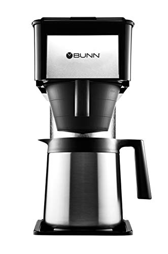 (BUNN BTX-B(D) ThermoFresh High Altitude 10-Cup Home Thermal Carafe Coffee Brewer, Black)